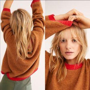 {free people} grandpa crew neck alpaca sweater